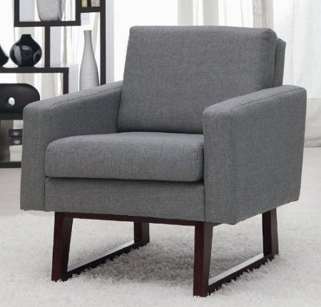 Bon Coaster Linen Chair In Grey