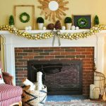 Garland style Christmas decoration idea for mantel