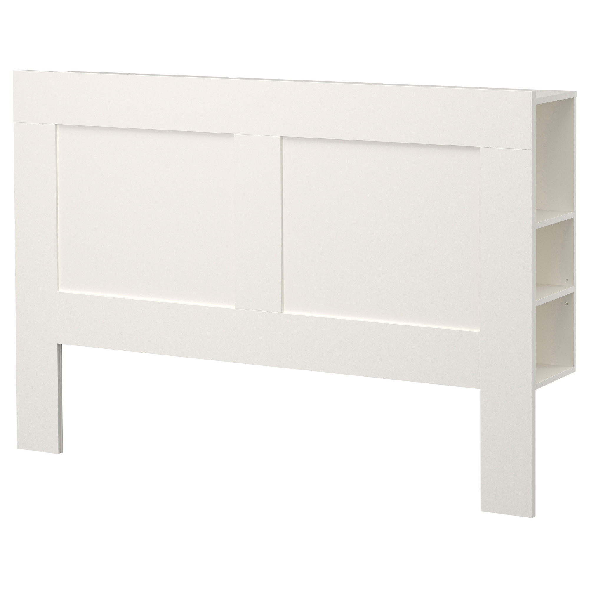 Headboard at ikea give your bedroom more storages and for Ikea shelf white