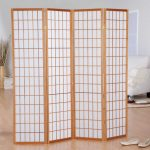 Japanese style room separator Ikea with wood panels