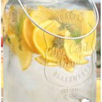 Mason jar glass beverage dispenser with handle and stainless steel spigot