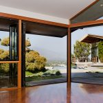 Nanawall ideas big glass door by Nanawall wood framed glass door glossy wood flooring idea glass window