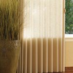 S Shape Window Covers For Big Glass Window Ceramic Vase Ornament With Ornamental Grass Plant Wood Finishing Floors