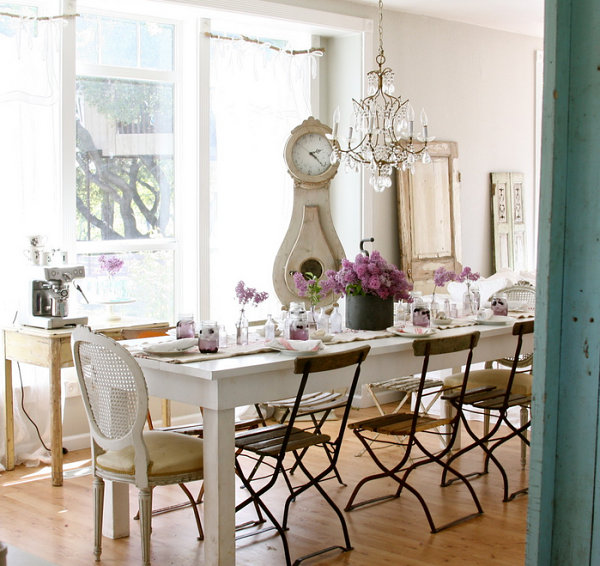 Superbe Alluring Frencg Country Interior With Wonderful Wooden Dining Set Furniture  Also Ravishing Crystal Chandelier In Hardwooden. Stunning French Interior  Style ...