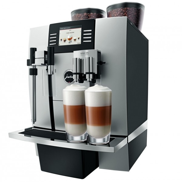 automatic coffee machine with two tubes of coffee beans and two direct water lines features
