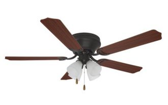 battery ceiling fan with wood blades and pendant lamps
