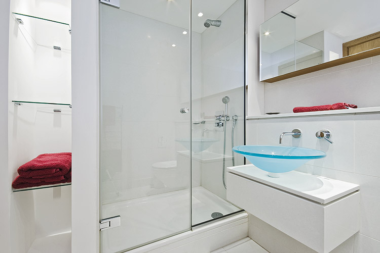 Unique beautiful blue bathroom sink simple design stainless steel faucet frameless mirror for bathroom full glass Inspirational - Popular frameless glass shower doors cost Trending