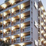 beautiful building design modern hotel design luminous building unique hotel design of the NEW hotel in Greece