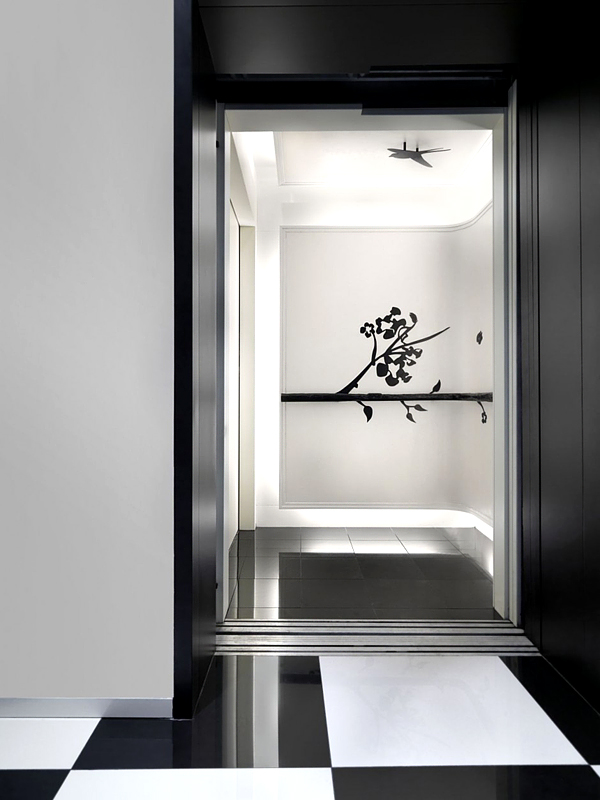 amazing black and white hotel design in the club hotel singapore homesfeed. Black Bedroom Furniture Sets. Home Design Ideas