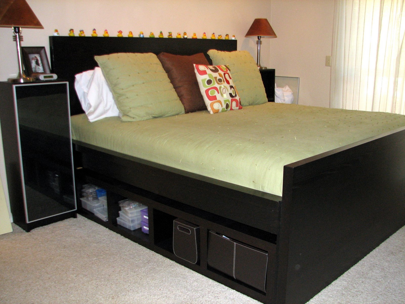 king size headboard ikea a simple way to make your bed more stylish homesfeed. Black Bedroom Furniture Sets. Home Design Ideas
