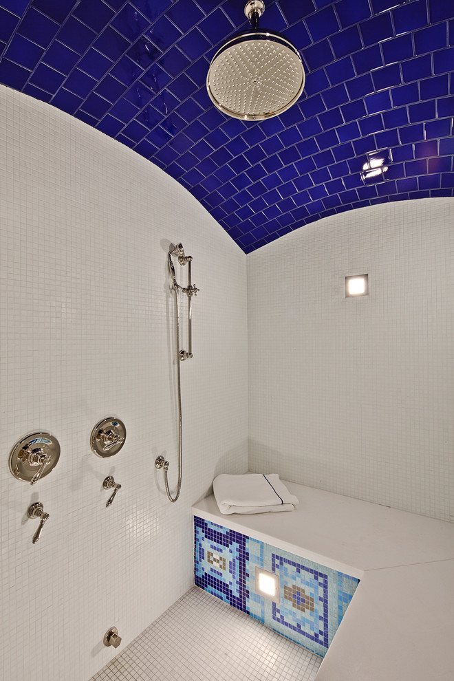 Top five tips for best tile for shower floor homesfeed Bright blue tile