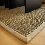 Carpet With Basket Weave Patterns Smooth Wood Finish Floors