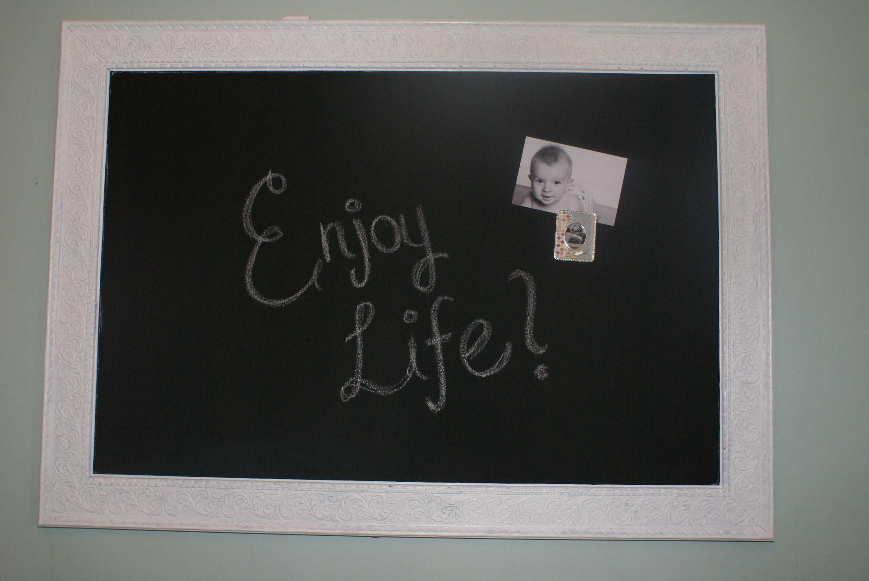 chalkboard in simple white frame - White Framed Chalkboard