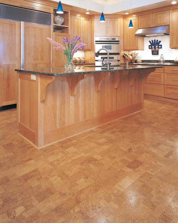 The options of best floors for kitchens homesfeed for Cork flooring kitchen reviews