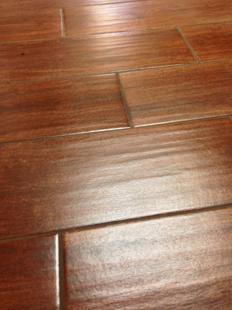 Tile look wood reviews a new reference in flooring for Dark wood vinyl flooring