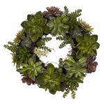 decorative fresh green flowers wreath