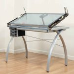 drafting table with glass table top
