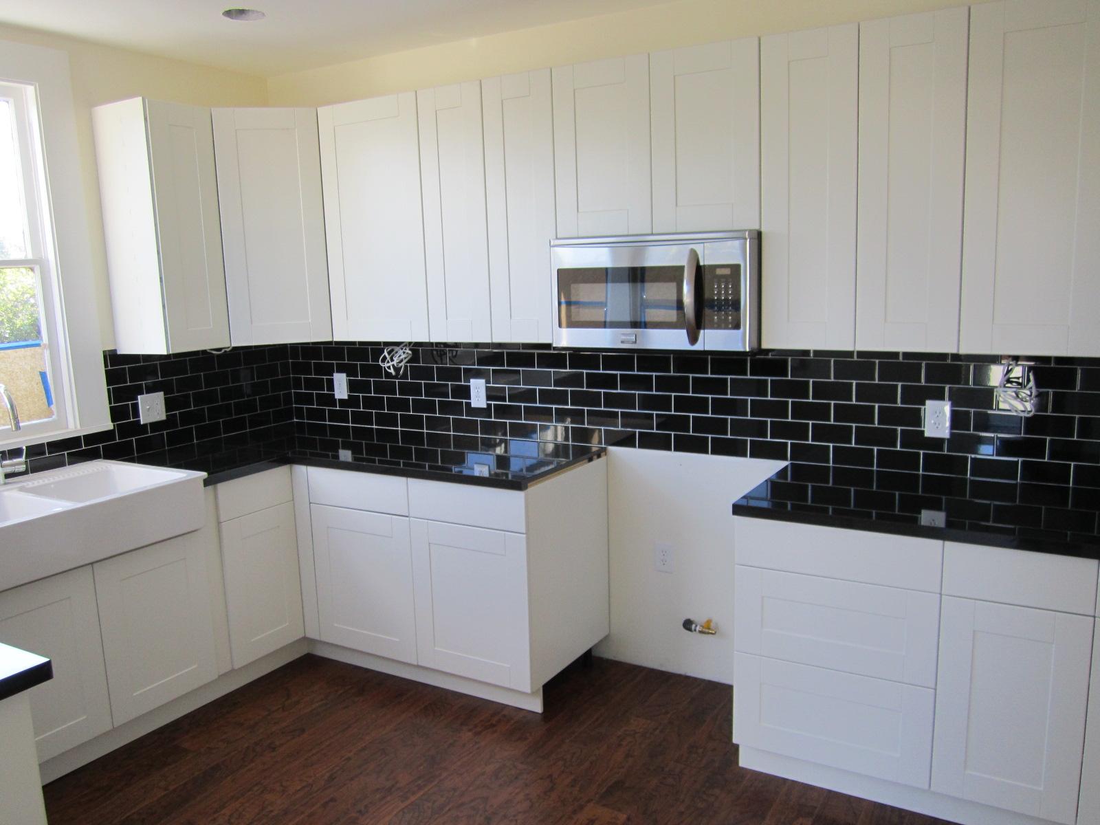 elegant black kitchen countertops black subway tiles for kitchen wall modern kitchen appliance huge top white