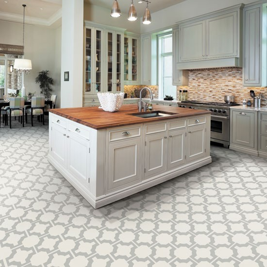The options of best floors for kitchens homesfeed for White kitchen vinyl floor