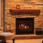 firebox with brick wall system simple single shelf with a picture frame twin candle stands  comfy grey arm chair a setee furniture