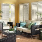 fix  window blinds black and white living room furniture palm decoration with its white pots
