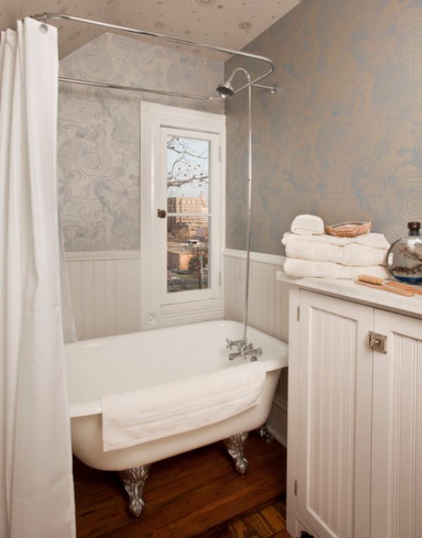 small bathroom shower base  tinny tub with white curtain mini white  cupboard a pile of white towels. Tubs And Showers For Small Bathrooms  Ideas About Small Bathroom