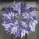 fresh lavender wreath decoration