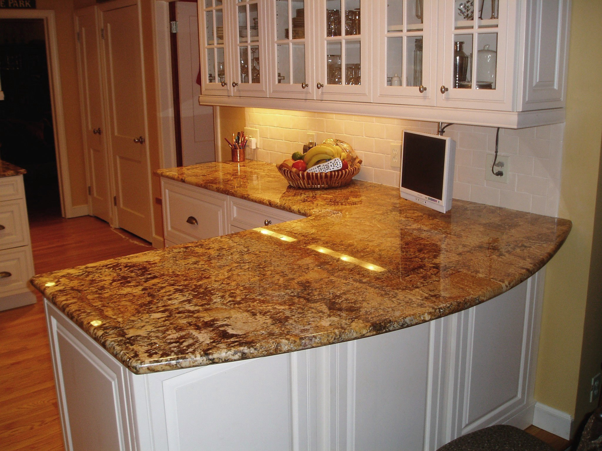 Solutions to overcome high price of granite countertops White kitchen cabinets with granite countertops photos