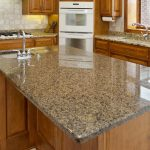 granite-finish-countertop with storage luxurious kitchen set with wood cabinetry white ceramic kitchen floor white subway tiles for kitchen wall system