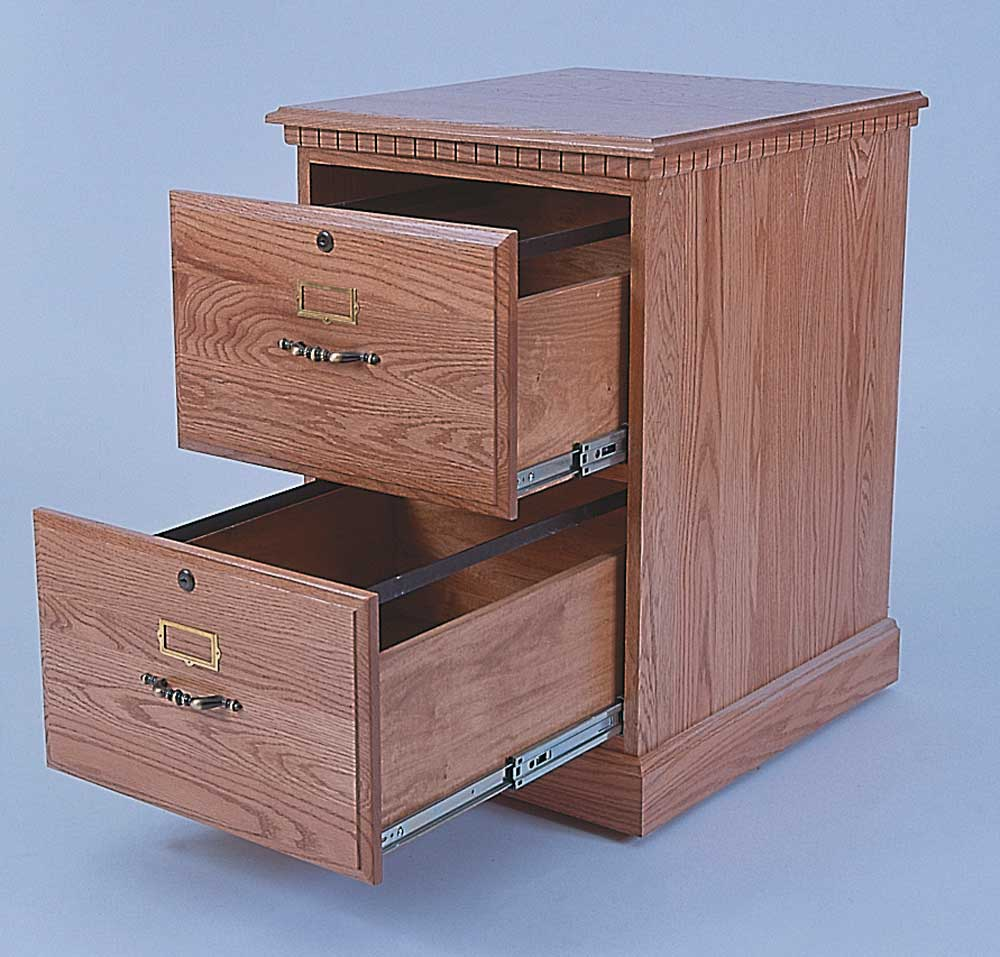 Hardwood Cabinets Two Drawers