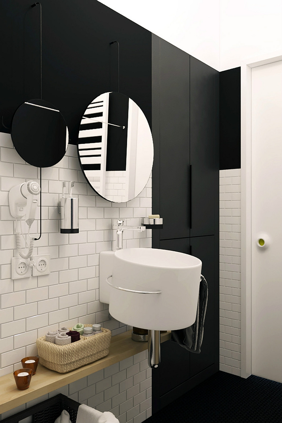 gorgeous black and white apartment ideas: another way to save your