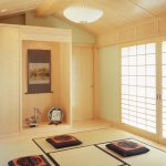 interesting cream japanese dining room style with floor cushions also magnificent white pendant lamp with eclcetic sliding door in laminate flooring idea