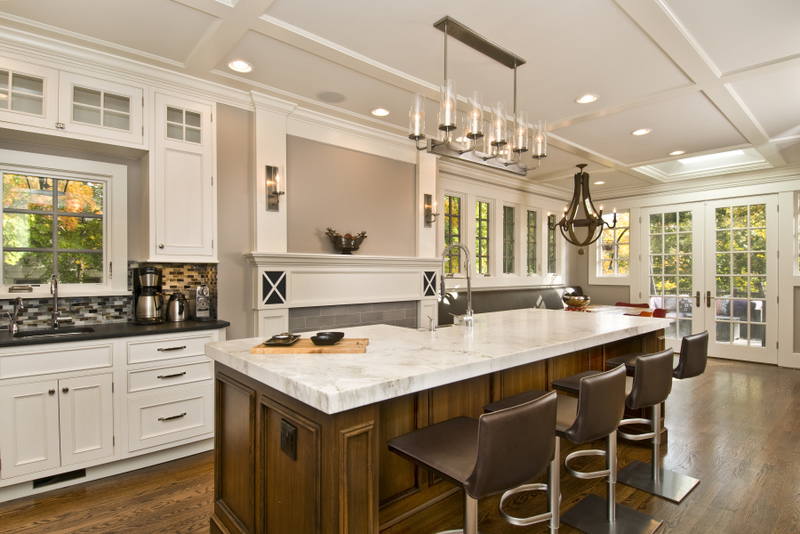 Allow extra room for dining with a large kitchen islands Large kitchen islands with seating and storage