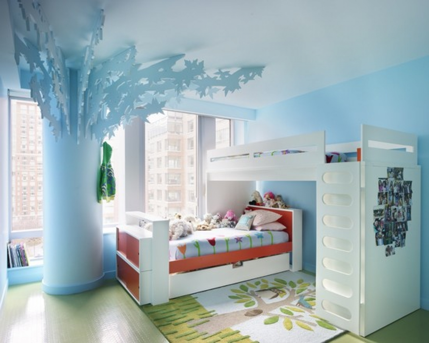 Light Blue Painted Wall Light Blue Special And Beautiful Decorations White  Painted Bedframe Cute And Comfortable