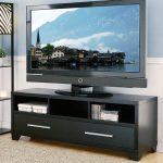 low profile TV table with shelves and cabinetry system large flat TV