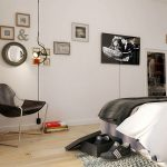marvelous bedroom with clasic wall decoration and magnificent white walling design with glass divider