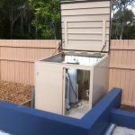 medium size metal equipment pool enclosure
