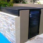 modern minimalits box equipment pool enclosure
