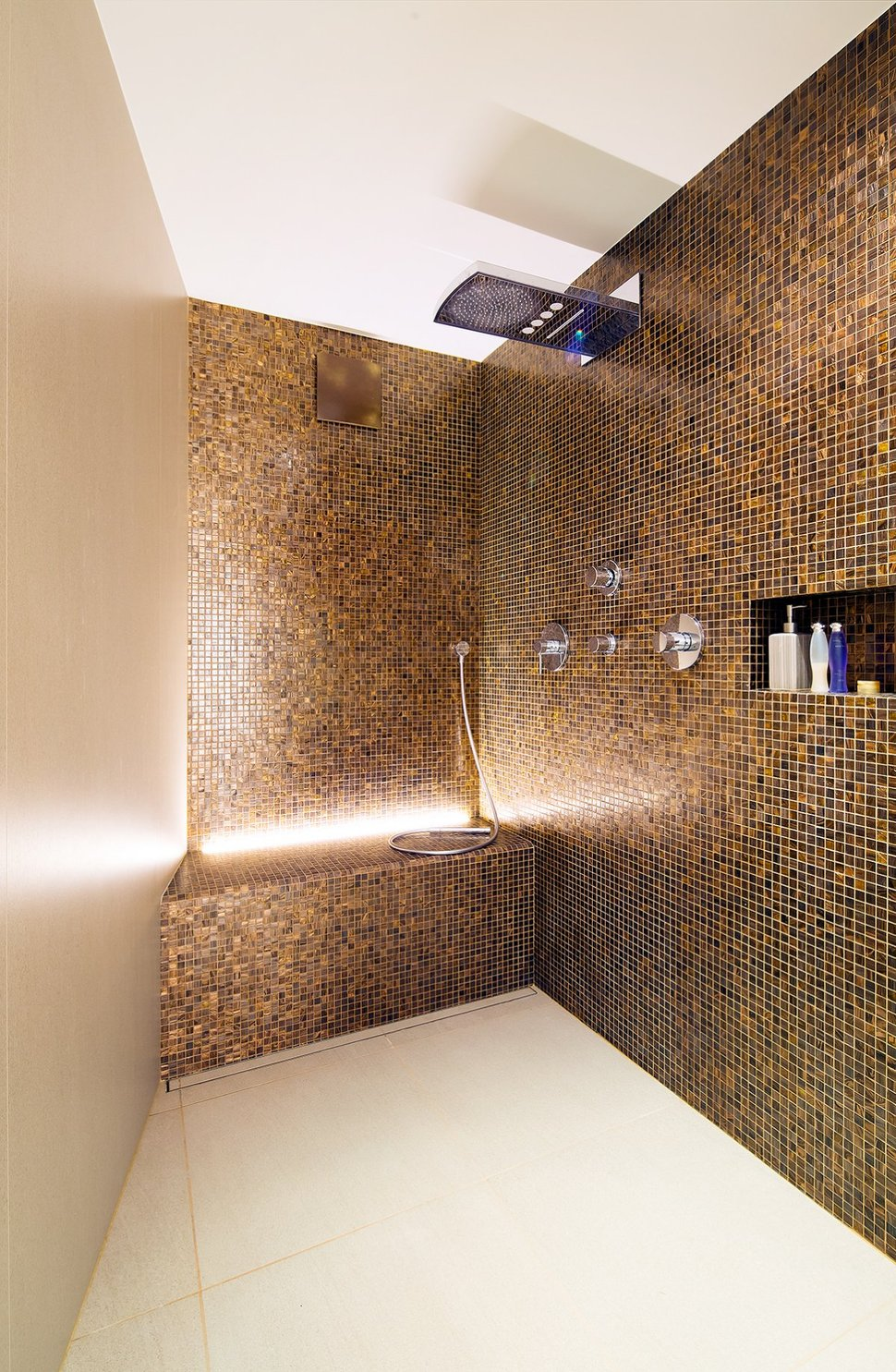 Mosaic Tiles For Bathroom Wall And Bench Modern Shower Unit Fix Bathing  Properties Shelf White Ceramic