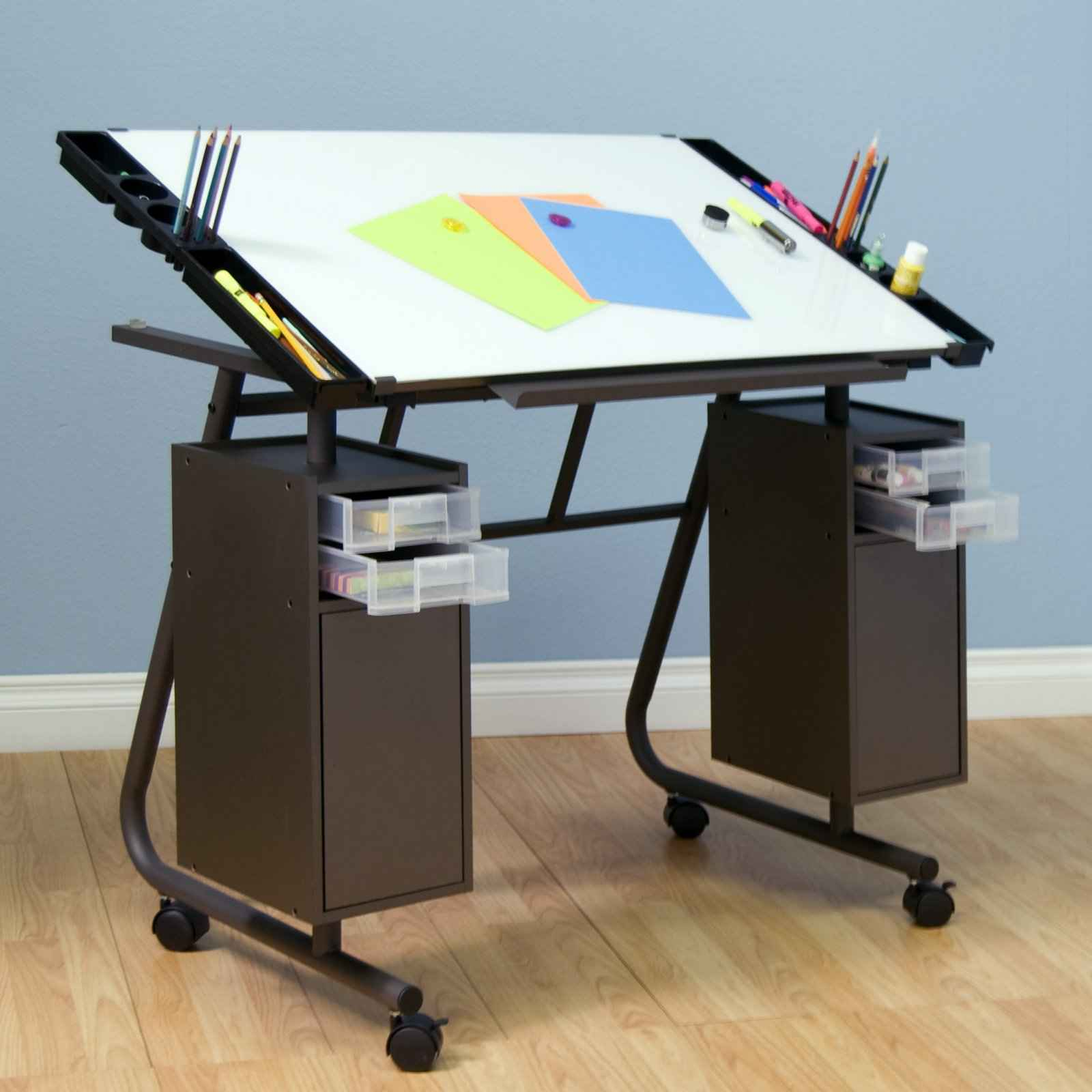 Steps of how to build a adjustable drafting tables ikea for Ikea drawing desk