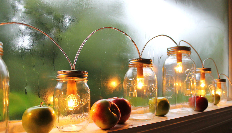 How To Create Mason Jar Lighting Fixtures HomesFeed : ornamental mason jar lighting fresh apples ornaments from homesfeed.com size 1500 x 859 jpeg 255kB