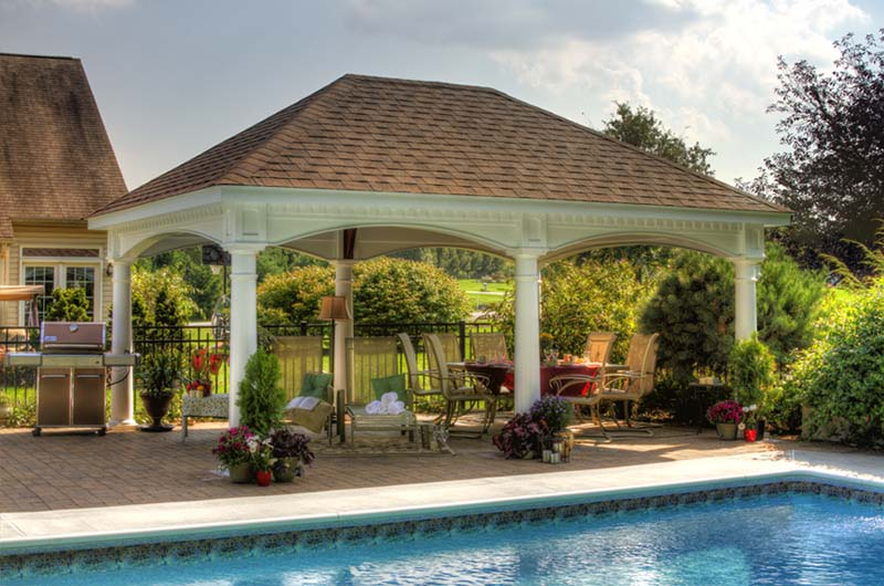 Outdoor pavilion plans a way to expand your outdoor area for Pool pavilion designs