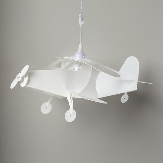 pure white airplane-decorative pendant lighting