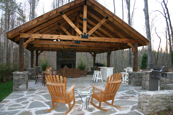 Outdoor pavilion plans a way to expand your outdoor area for Pavilion style house plans