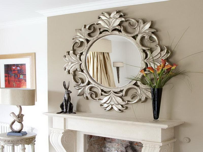 Sheffield Home Mirror In Bronze Frame Black Elegant Vase With Beautiful Lily Flowers Mini Metal Kangoroo