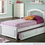 simple high platform bed with additional bed single shelf for picture frame and painting simple white cabinet units beautiful carpet hardwood floor for kids bedroom