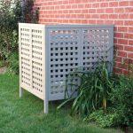 simple white equipment pool enclosure with large pore air ventilation classic red bricks walls idea