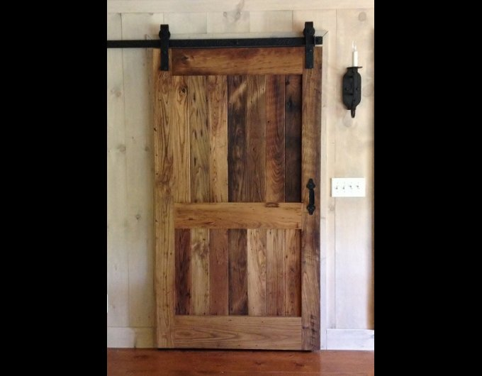 Glass barn doors for closet a newest style of bathroom for Barn door pictures