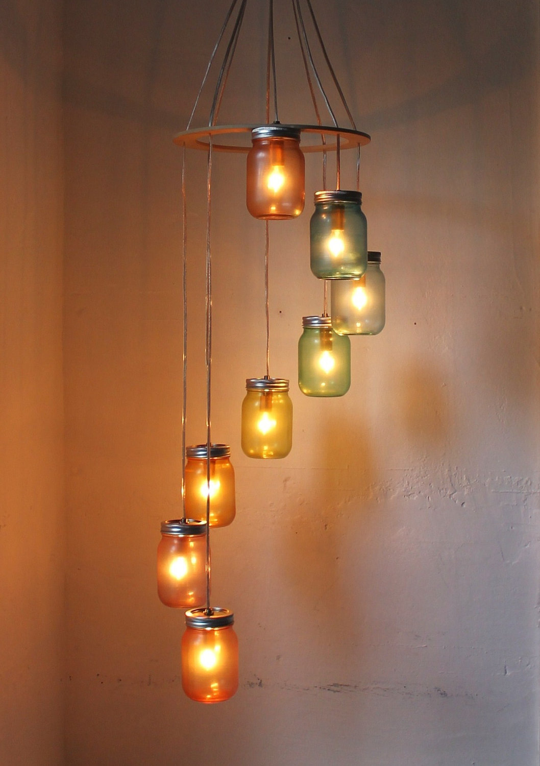 How to create mason jar lighting fixtures homesfeed for A lamp and fixture