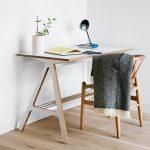 tiny-legs corner desk  mini reading lamp  white porcelain vase with small decorative bamboo plants tiny-legs wood chair
